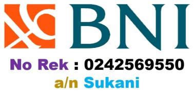 Rekening BNI pak Sukani