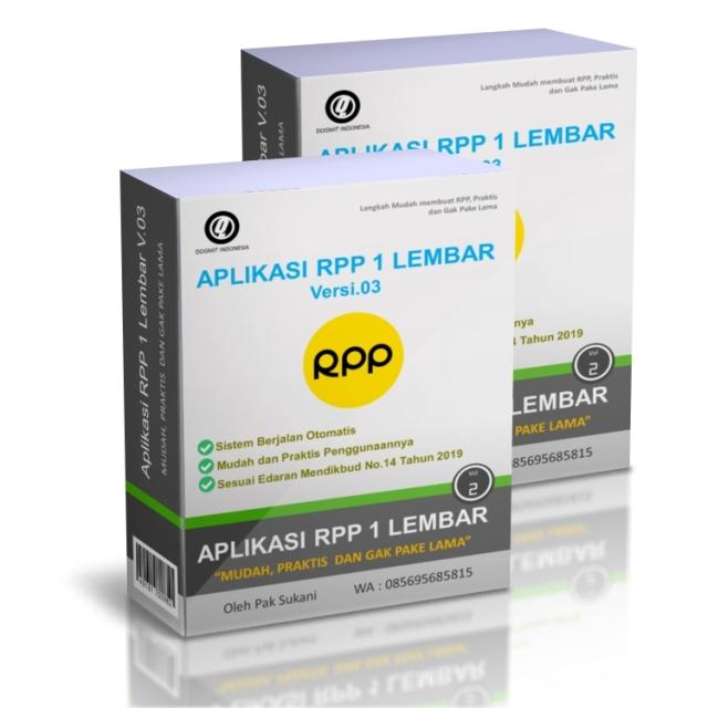 Aplikasi RPP 1 Lembar/Halaman SD SMP SMA V.03 Terbaru 2020